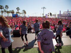 O2Monkesys en la Carrera de la Mujer de Valencia